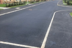New road and footpath at new build site - Kidby Way Highways adopted.