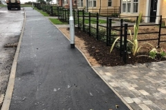 Footpath surfaced on new build site - Shrubland Drive